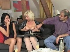 His Parenets Lure Her Into Threesome