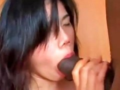 Chinese Girl Is Getting Manhandled By A Big Black Cock In Drtuber