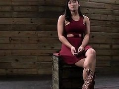 Chick That Is Chained To The Wall Gets Moist From Torturing Drtuber