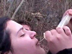 Bbw Teen Sucks Used Strange Condoms What A Slut Hd Porn 8b