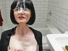Cum Covered Mature Tramp Free Lingerie Porn E0 Xhamster