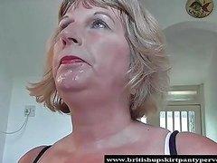 British Milf Rose Lets The Panty Pervert Spunk In Her