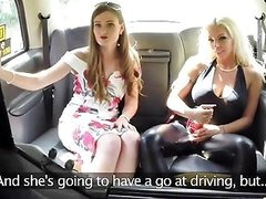 Fake Taxi Training The New Female Taxi Driver On
