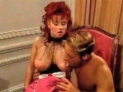Redhead Babe In Corset Blowing And Fucking Free Porn D1