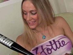 Busty Blonde Masturbates With A Baseball Bat Free Porn F4
