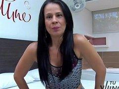 Tuvenganza Spanish Brunette Gets Facialized Colombian