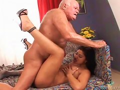 Filthy Firefighter Gets Fucked Hard By Horny Grandpa