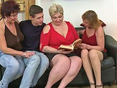 One Lucky Guy Having Funwith Three Mature Sluts Mature Nl