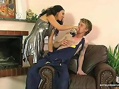 Hot Milf Seduces A Repairman