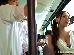 Sayuki Kanno Goes Hardcore In A Public Bus With People Around