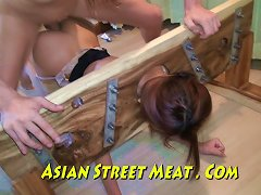 Asian Sweety Sodomised In Stockings And Stocks