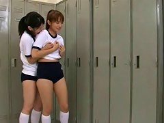Ryouko And Mika Lesbian Kiss In The Locker Room Porn 3d