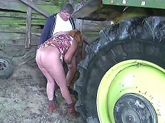 German Milf Mom And Dad Fuck Outdoor On Farm Free Porn 0b